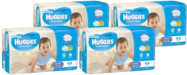 Huggies Ultra Dry Nappies Bulk Shipper - Crawler Boy 6-11kg (176)