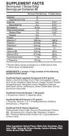 EHP Labs OxyShred Fat Burner - Mango (306g - 60 Serves)