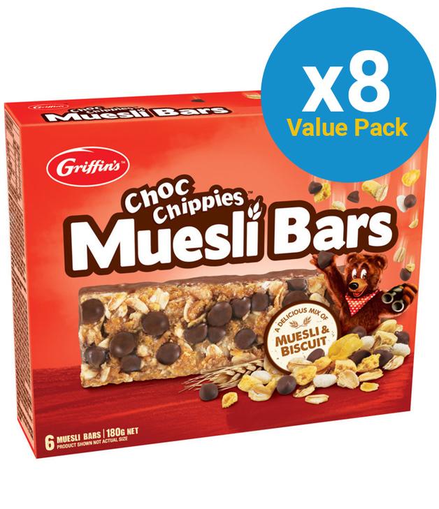 Griffin's Choc Chippies Muesli Bars 180g (8 Box Value Pack)