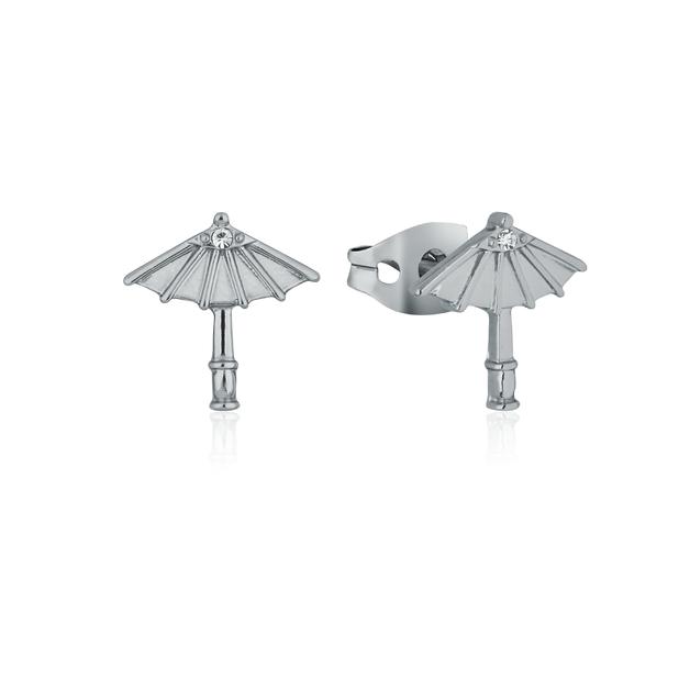 Couture Kingdom: Disney Mulan Umbrella Stud Earrings White Gold