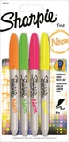 Sharpie Neon Fine - Assorted Colours (4 Pack)