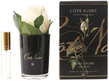 Côte Noire Perfumed Natural Touch Rose Bud in Black (Ivory White)