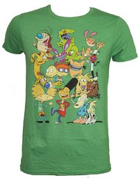 Nickelodeon: 90's Group Shot Mens T-Shirt (Small)