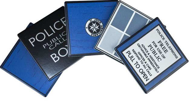 Doctor Who TARDIS Ceramic Coaster Set