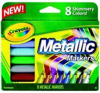 8 Metallic Markers - Crayola