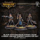 Warmachine: Cygnar - Black 13th Gun Mage Strike Team Arcane Tempest Character Unit