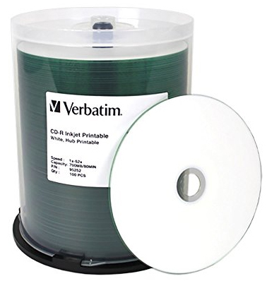 Verbatim CD-R 700MB 52x White Wide Inkjet - 100 Pack