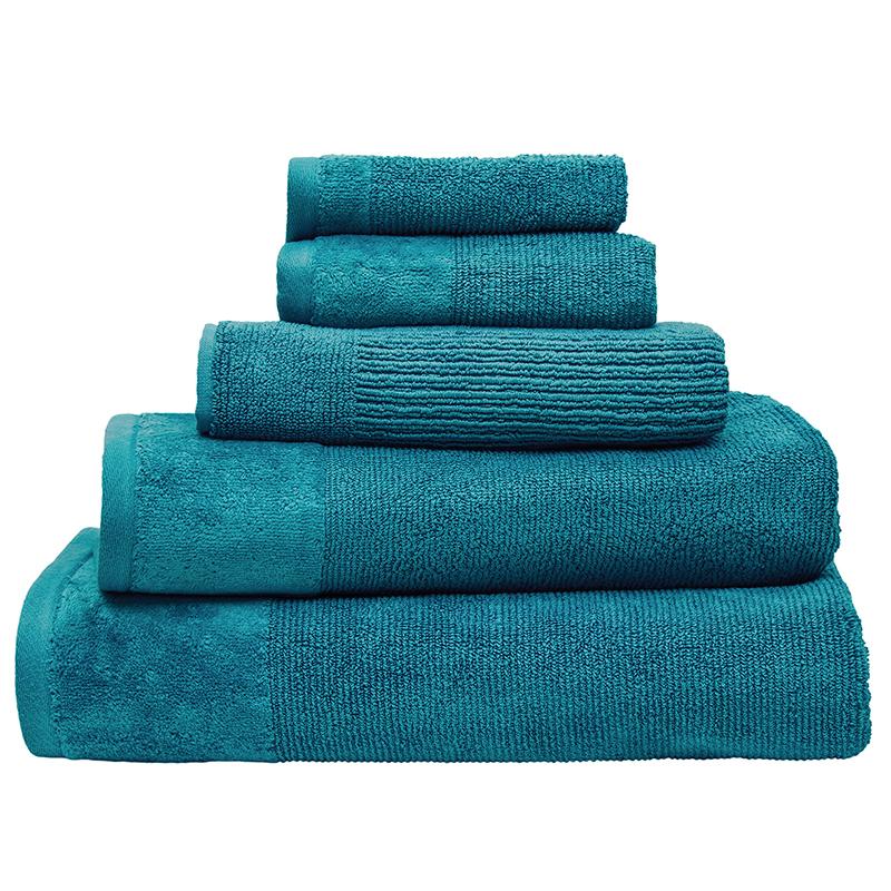 Bambury Costa Cotton Bath Towel (Teal) image