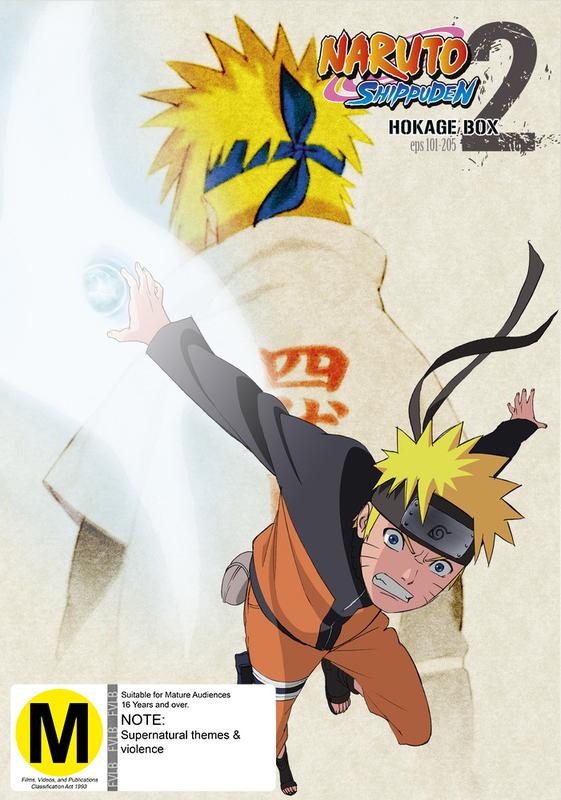 Naruto Shippuden - Hokage Box 2 (Eps 101-205) on DVD