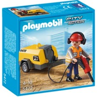 Playmobil: Construction Worker with Jack Hammer