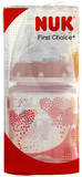 NUK: First Choice - Polypropylene Bottle (150ml) - Pink Hearts