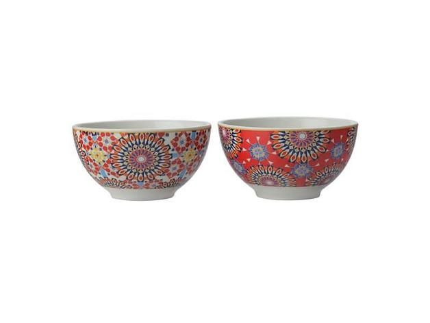 Maxwell & Williams Teas & C's Isfara Set of 2 Bowls - Red (10cm)