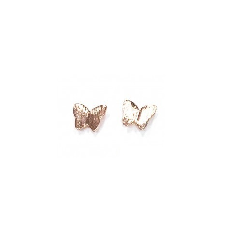 Butterfly Studs - Rose Gold