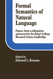 Formal Semantics of Natural Language by Edward L. Keenan image