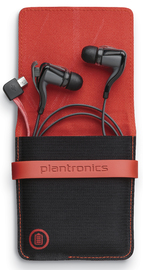 Plantronics BackBeat Go 2 Bluetooth Headset with Charge Case (Black)