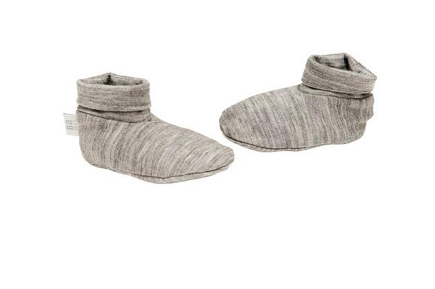 Babu Merino Booties - Grey Marl (0-3 months)