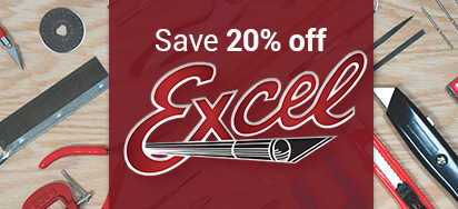 20% off Excel Tools & Supplies!