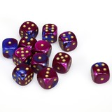 Chessex Gemini 16mm D6 Dice Block: Blue-Purple/Gold