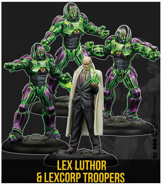 Batman: Miniatures Game - Lex Luthor & Lexcorp Troopers Character Pack