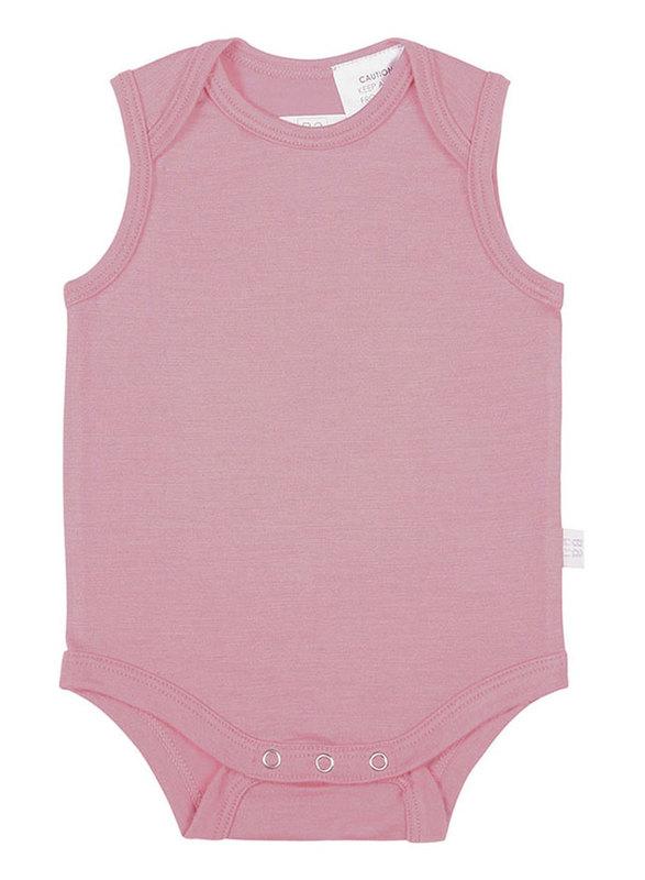 Babu: Merino Singlet Bodysuit - Pink (2 Years)