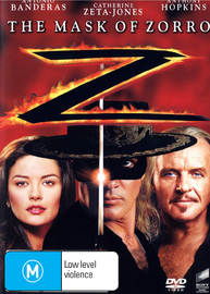 The Mask Of Zorro on DVD image