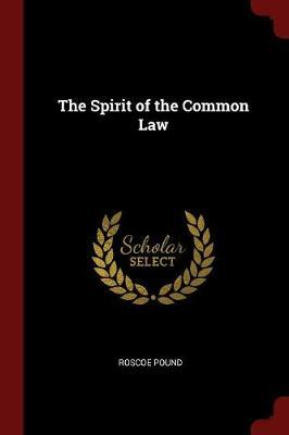 The Spirit of the Common Law by Roscoe Pound image