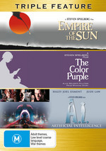 Empire Of The Sun / Color Purple / A.I. - Triple Feature (3 Disc Set) on DVD