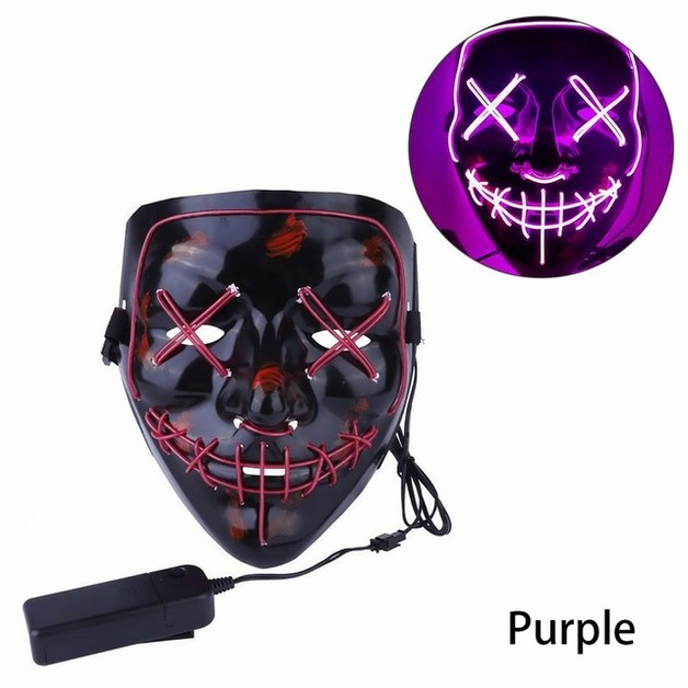 LED Halloween Mask - Purple