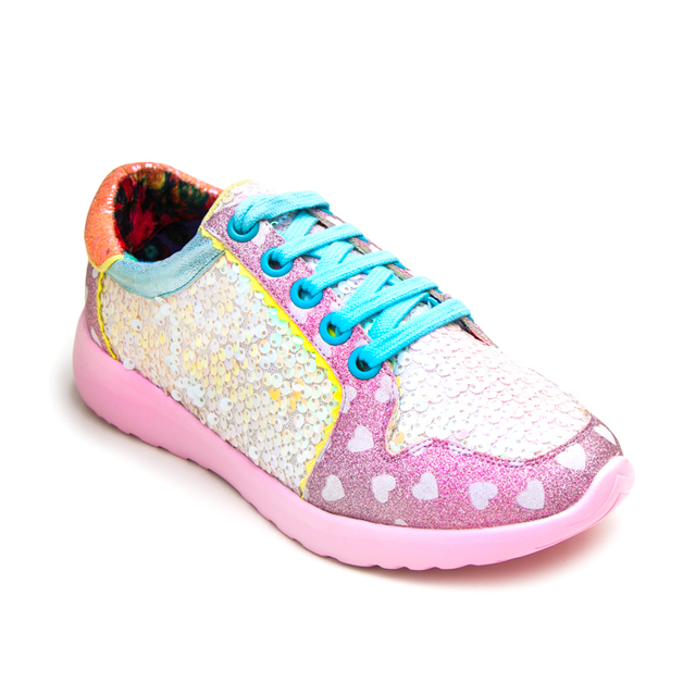 Irregular Choice: Run the World Pink - Size 39 EU