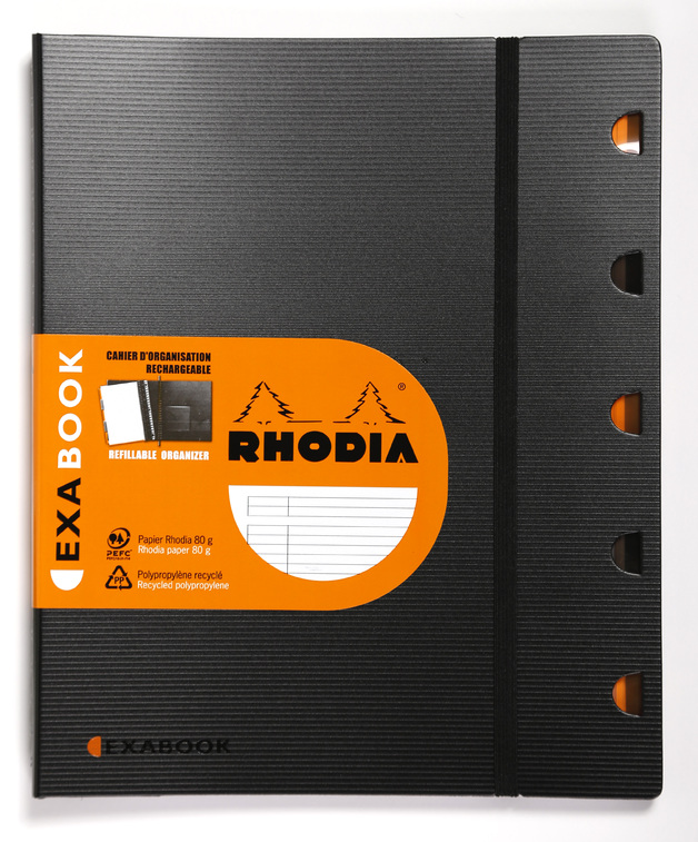Rhodia A4+ Exabook, Lined (Organizer & Refillable Notebook)