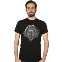 Minecraft Heroes Crest T-Shirt (Medium)