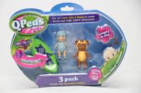 QPeas: Posable Mini Dolls - 3-Pack (Mira & Sian)