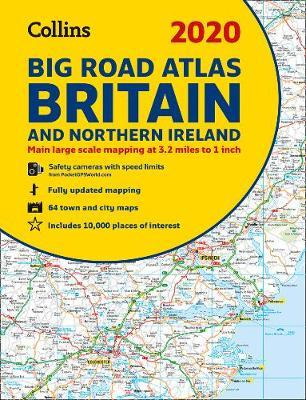 2020 Collins Big Road Atlas Britain and Northern Ireland by Collins Maps image