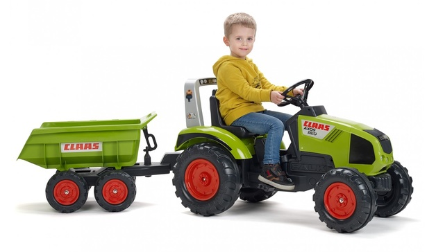 Falk: Claas Pedal Tractor - With Maxi-Tilt Trailer