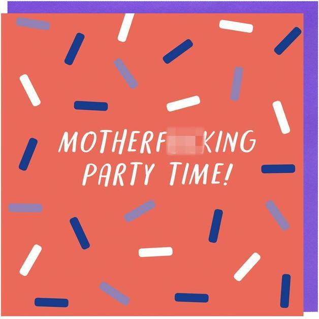 G80: MotherF*cking Party Time Card
