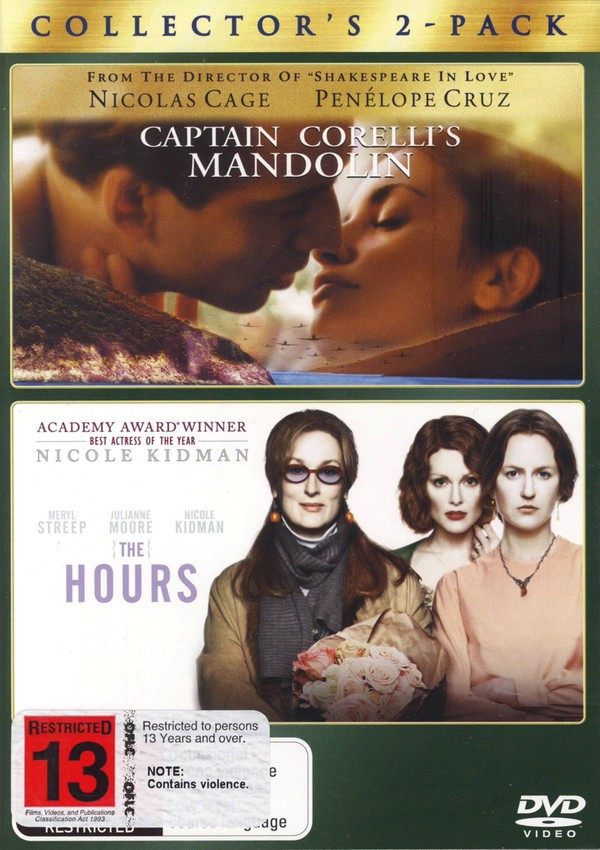Captain Corelli's Mandolin / Hours, The (2 Disc Set) on DVD image