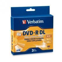 Verbatim DVD-R DL 8.5GB 3Pk Jewel Case 2-4x