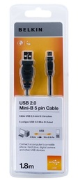 Belkin: USB 2.0 Peripheral Cable - A to Mini-B (1.8m)