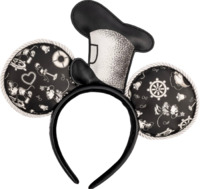 Loungefly: Mickey Mouse - Mickey Steamboat Willie with Hat Headband