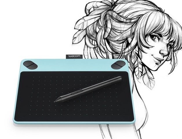 Wacom Intuos Draw Pen Tablet (Small / Mint Blue) | at Mighty Ape