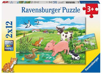 Ravensburger - Baby Farm Animals Puzzle (2x12pc) image