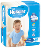 Huggies Nappies Bulk - Junior Boy 16+kg (30)