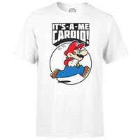 Nintendo Super Mario Cardio T-Shirt Kids' T-Shirt - White - 5-6 Years image