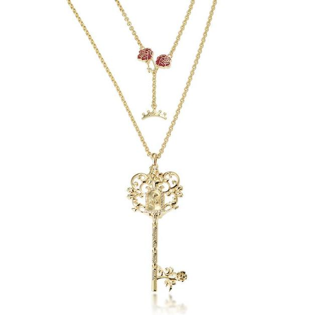Disney Couture Princess Belle Necklace - Gold