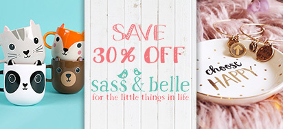 30% off Sass & Belle Homewares!