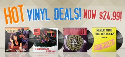 Vinyl Deals for August - NOW $24.99!