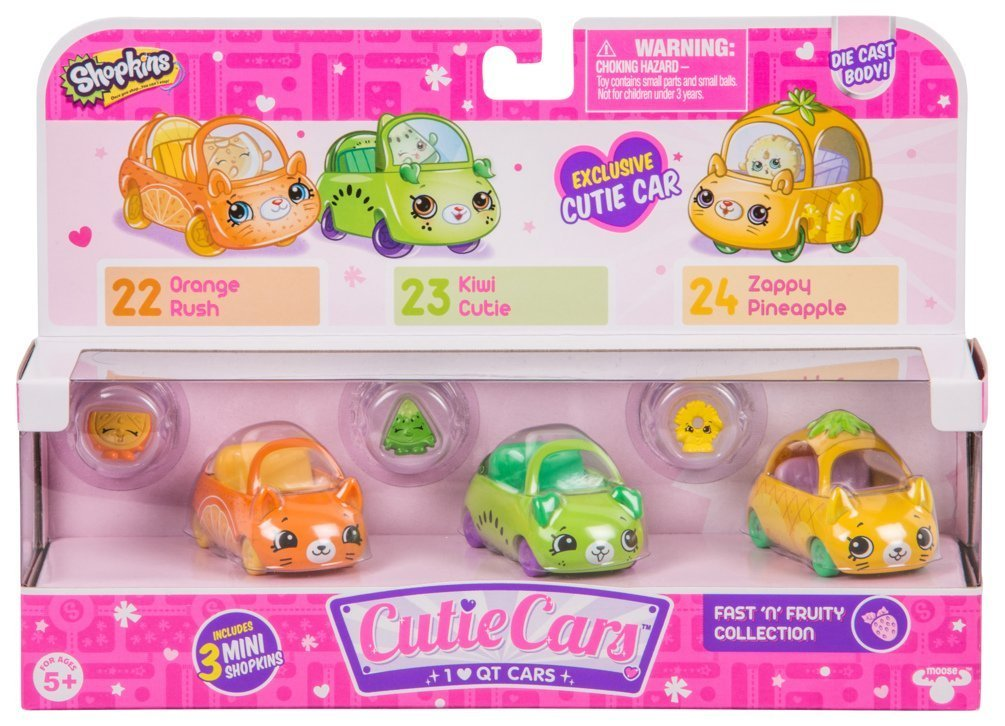 Shopkins: Cutie Cars 3-Pack - Fast 'N' Fruity image