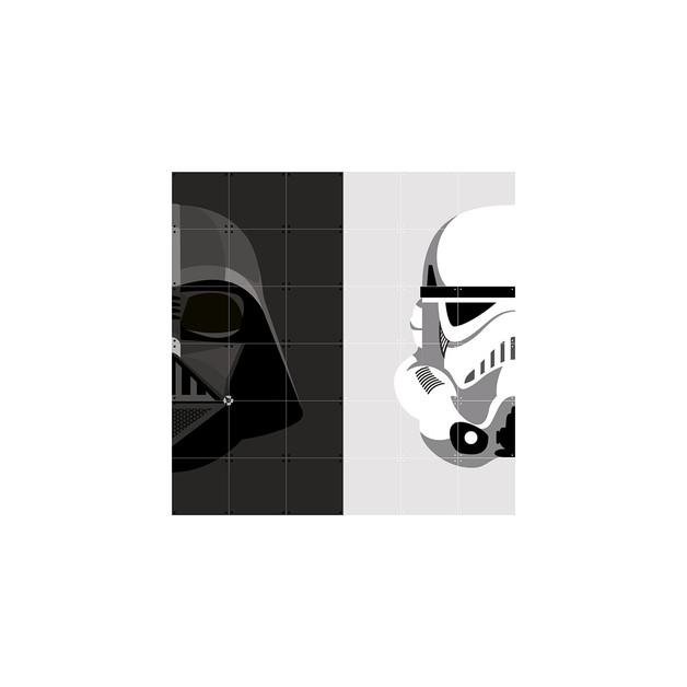 Ixxi: Star Wars Stormtrooper / Darth Vader Wall Art (120cm X 120cm)