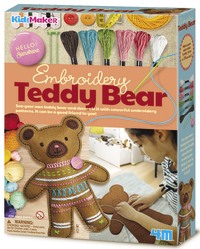 4M KidzMaker: Embroidery Teddy Bear Craft Kit