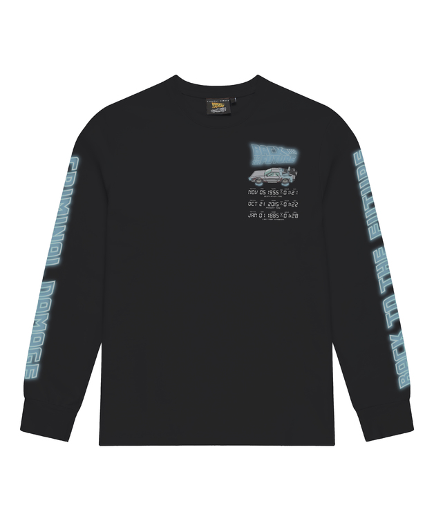 Criminal Damage: Time Code Long Sleeve Top (Black) - L